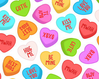 Candy heart clipart.