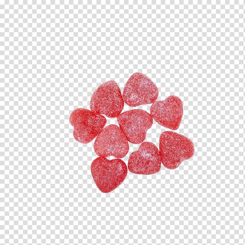 Red heart candies, Candy Dessert Screenshot, candy transparent.