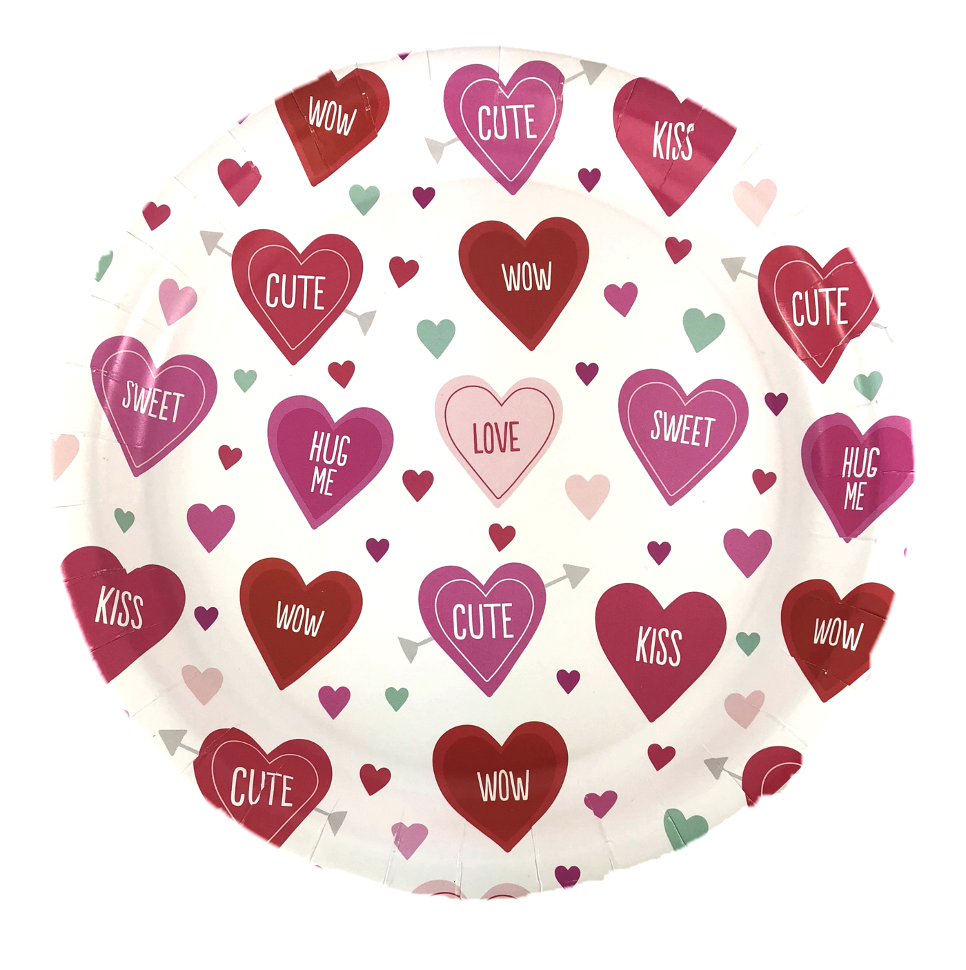 Valentine's Day Heart Candy Plate.