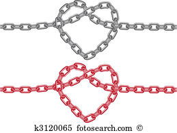 Heart chain Clipart and Illustration. 1,398 heart chain clip art.