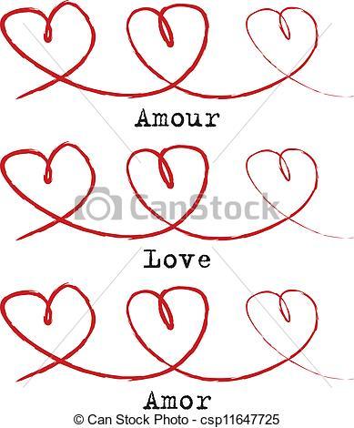 Vector Illustration of Heart chain.