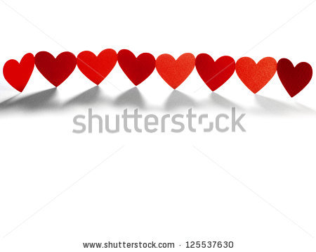 Heart Chain Stock Images, Royalty.