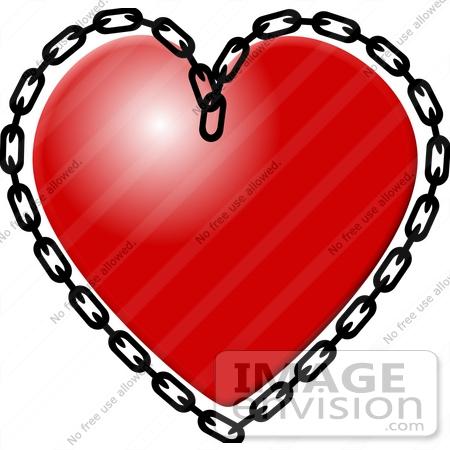 Heart Chain Clipart.
