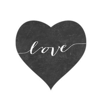 Free chalkboard heart clipart.