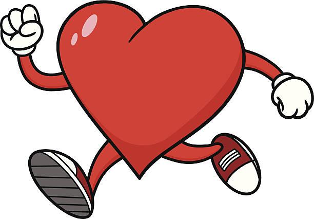 Heart Running Clipart.
