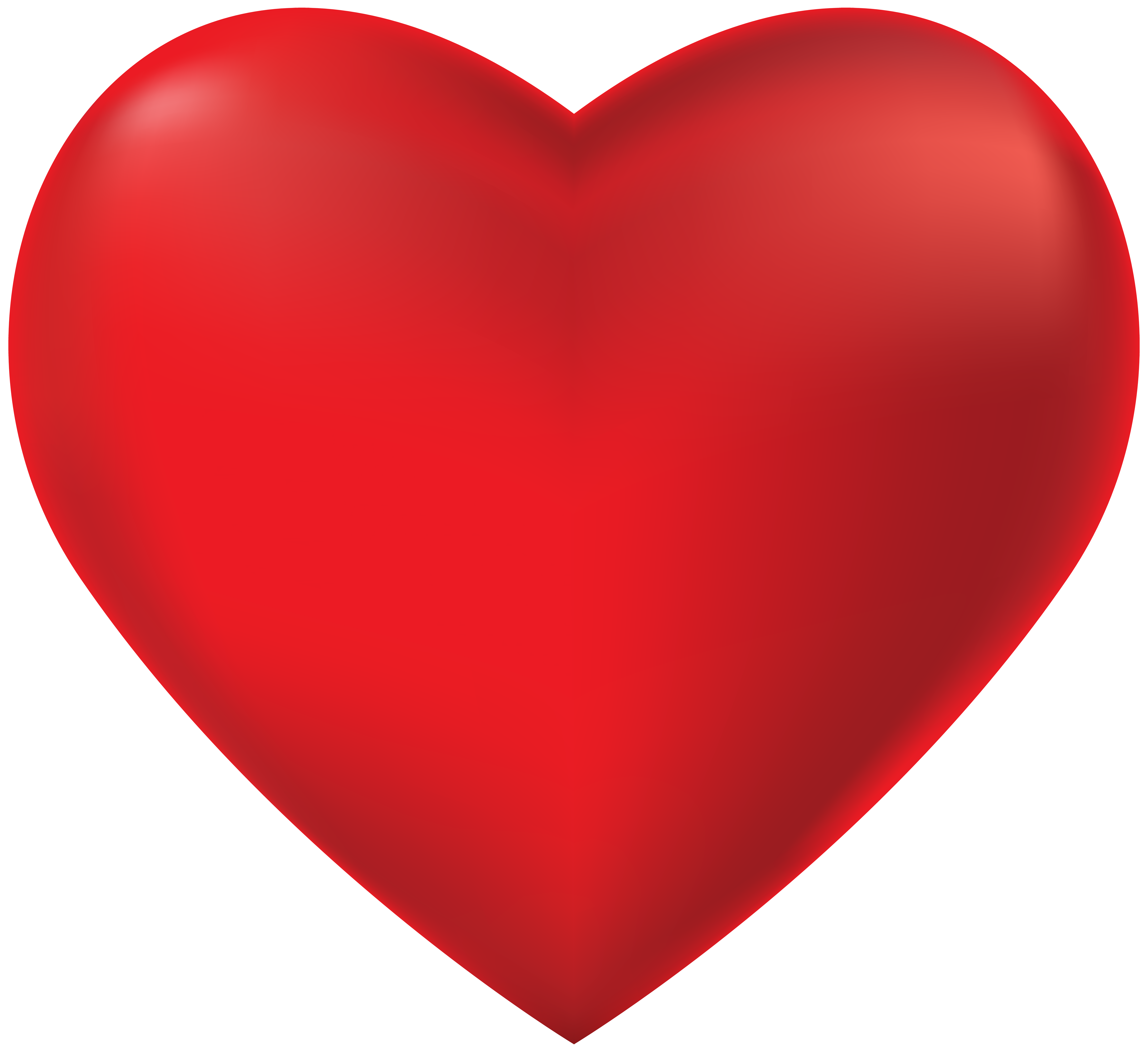 Red Heart Transparent PNG Clip Art.