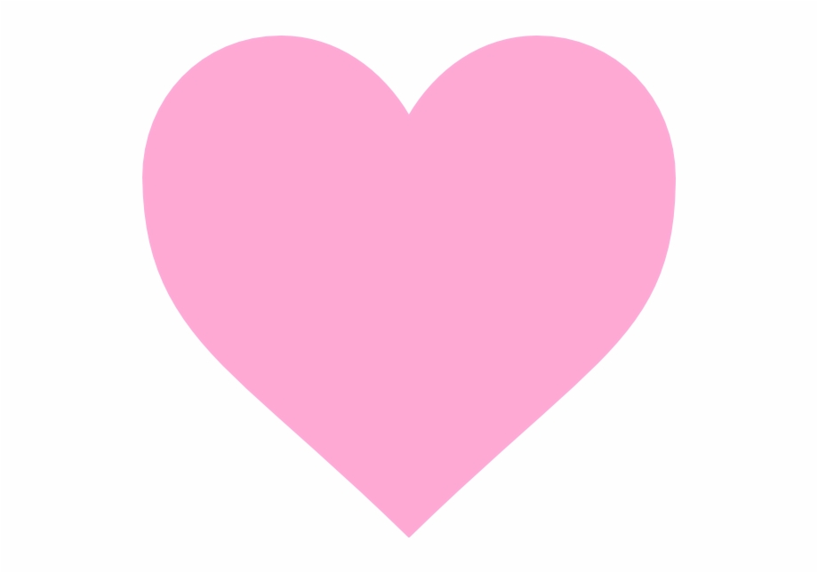 Simple Pink Heart Svg Clip Arts 600 X 565 Px.
