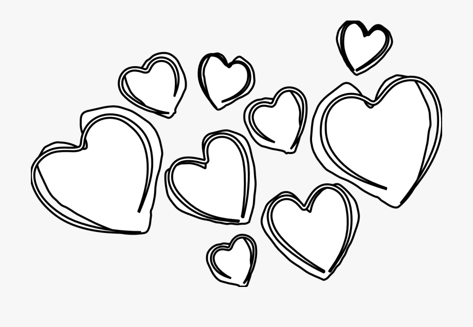 28 Collection Of Hearts Clipart Black And White.