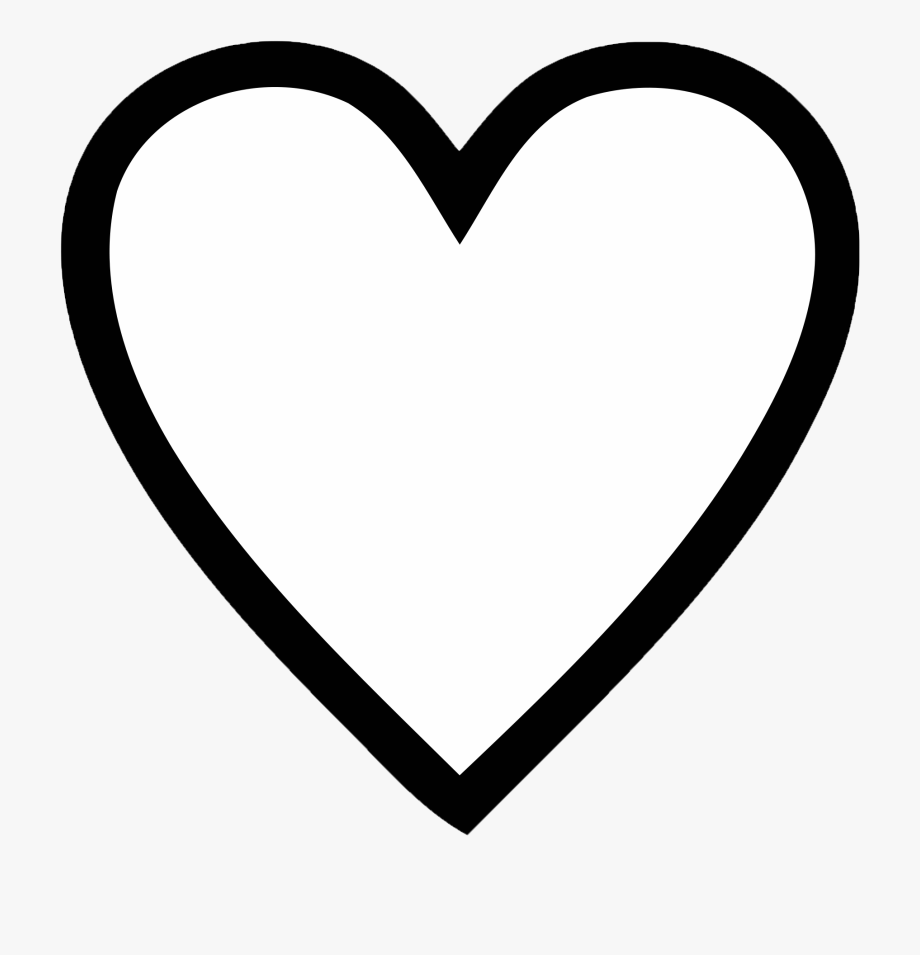 Black And White Heart Clipart.