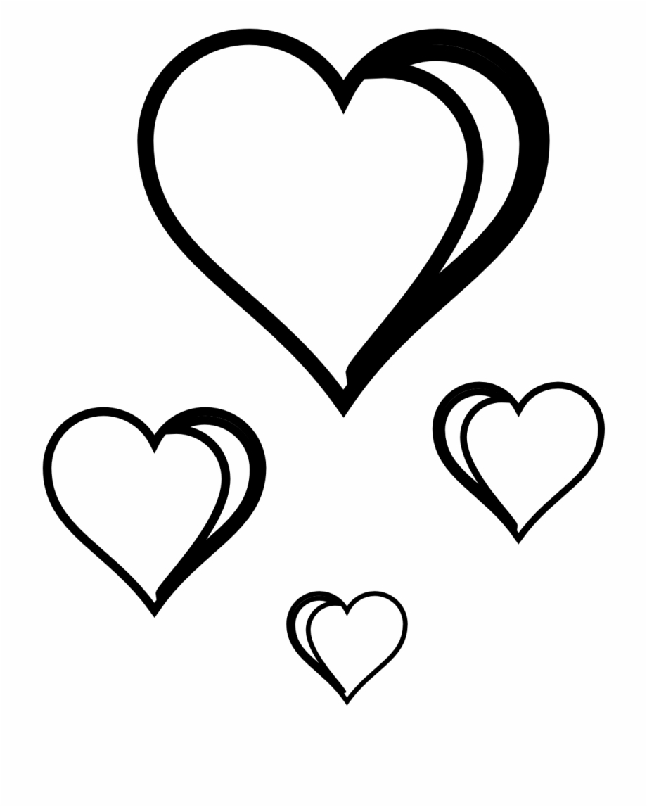 Black Heart Love Heart Clipart Black And White Clipartfest.