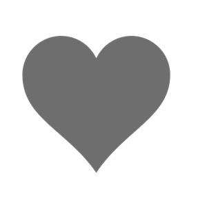 Grey Heart Clipart.