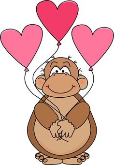 Animals Valentines Day Clipart Images.