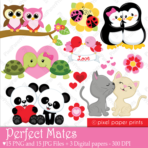 Heart clipart for valentines day cute animals clipground - Valentine s day animal pics ...