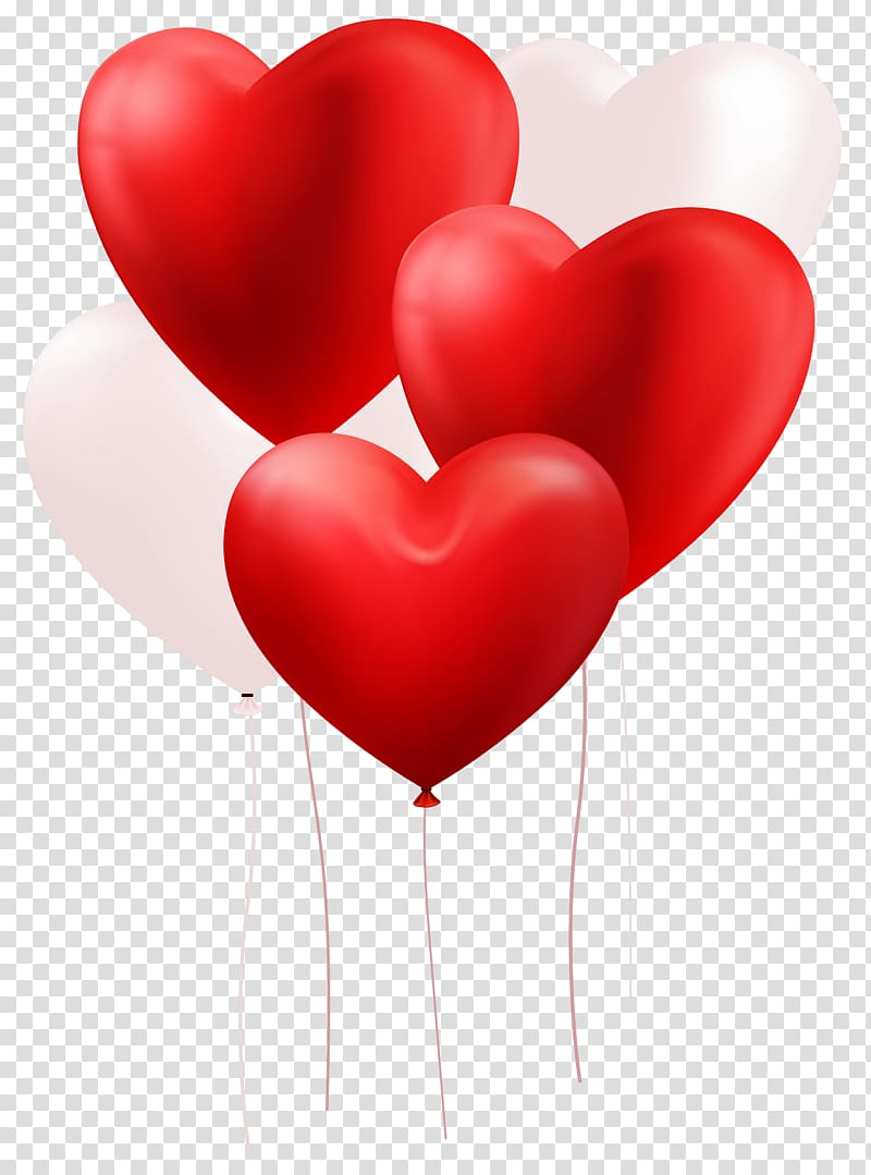 Red and white heart balloons, file formats Lossless.