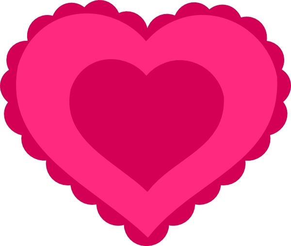 Pink Lace Heart clip art Free vector in Open office drawing.
