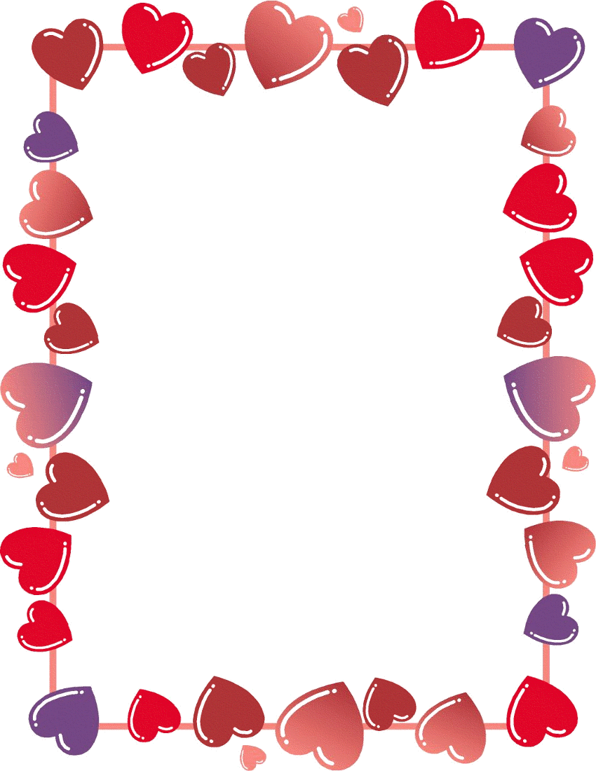 Heart Clipart Valentines Day Borders.