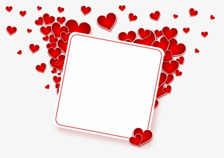 Free Heart Frame Clip Art with No Background.