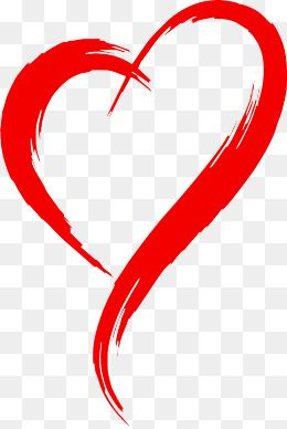 Red Heart Outline Brush Effect in 2019.