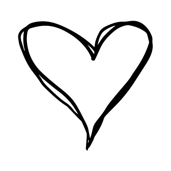Collection of Heart outline clipart.