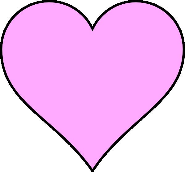 Pink Heart Outline In Black Clip Art at Clker.com.