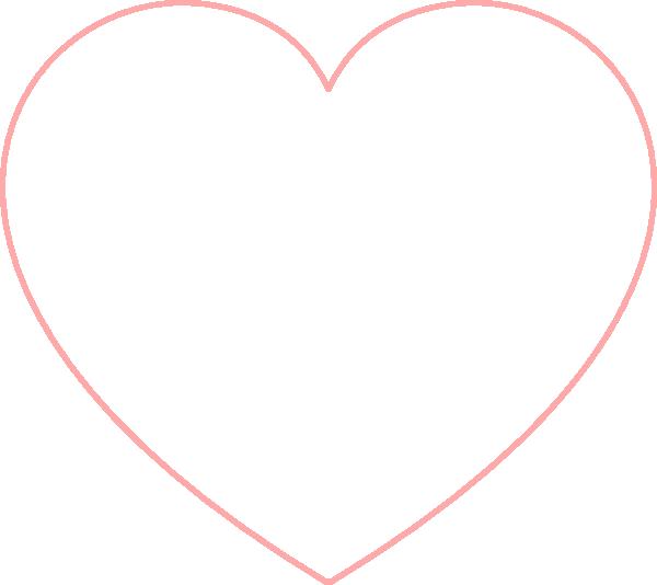 Baby Pink Heart Outline Clip Art at Clker.com.