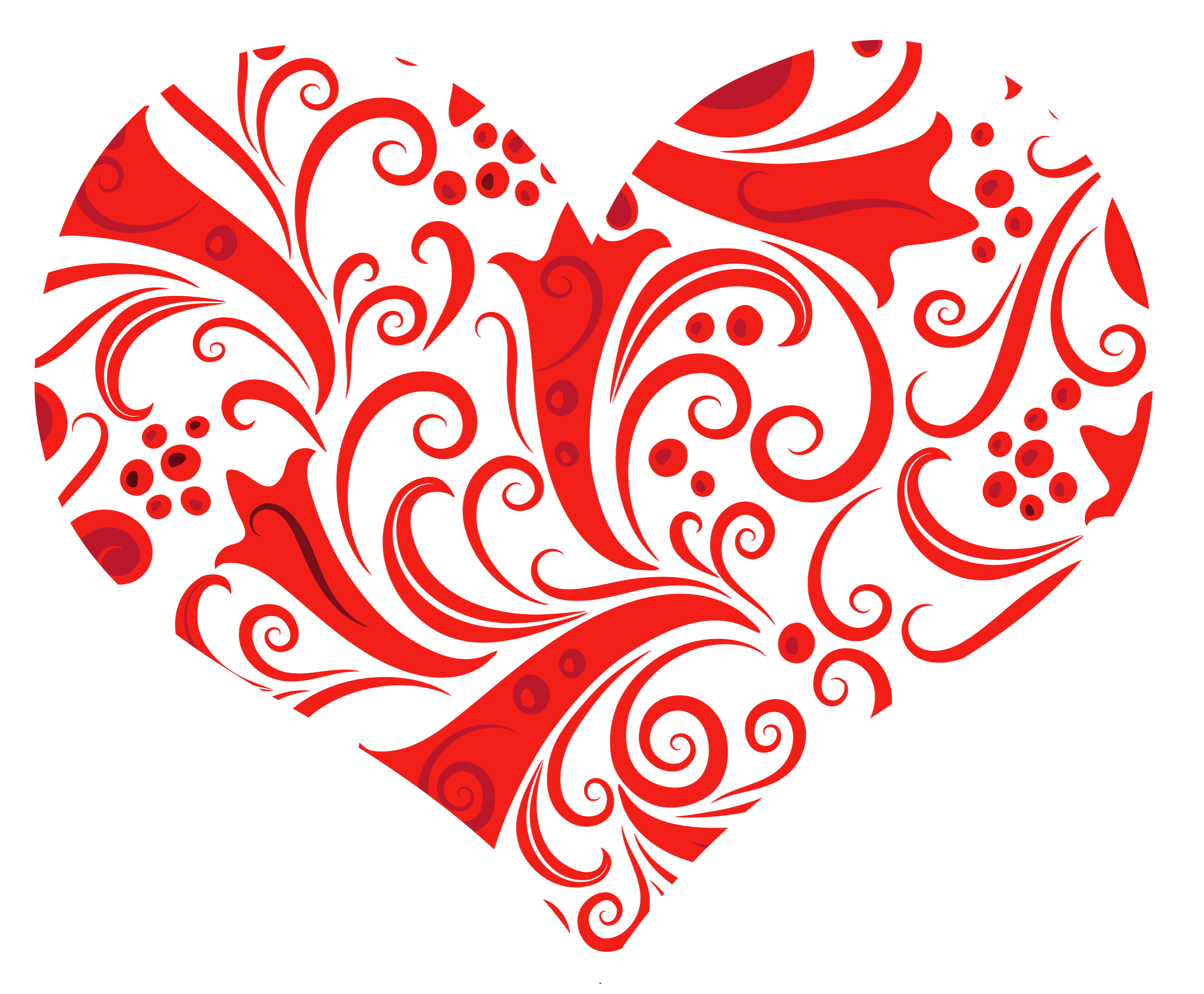Transparent Heart Ornament PNG Clipart.