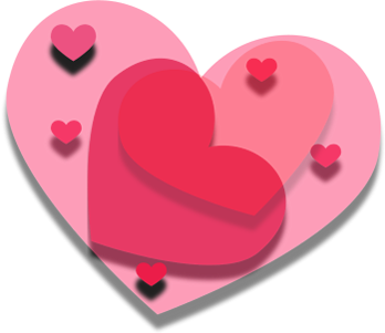 Transparent Drop Shadow Heart Clip Art.