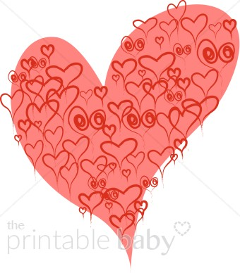 Red Hearts within Large Pink Heart Clipart.