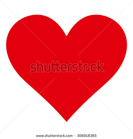 Heart Silhouette Stock Images, Royalty.