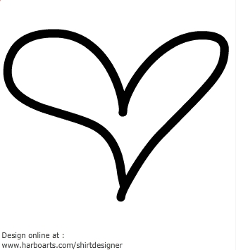 Hand Drawn Heart Clipart.