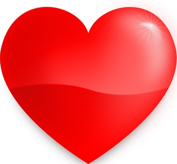 Glossy Heart clip art Free vector in Open office drawing svg.