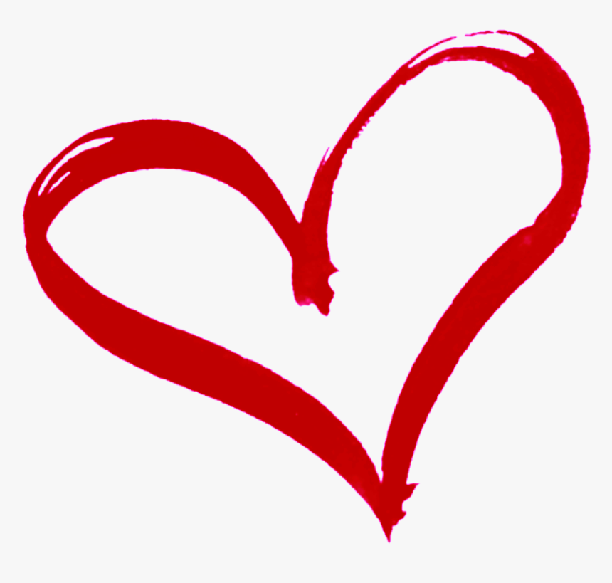 Red Outline Heart Clipart.
