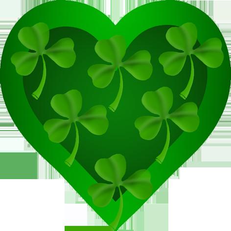 St. Patrick\'s heart with shamrock.