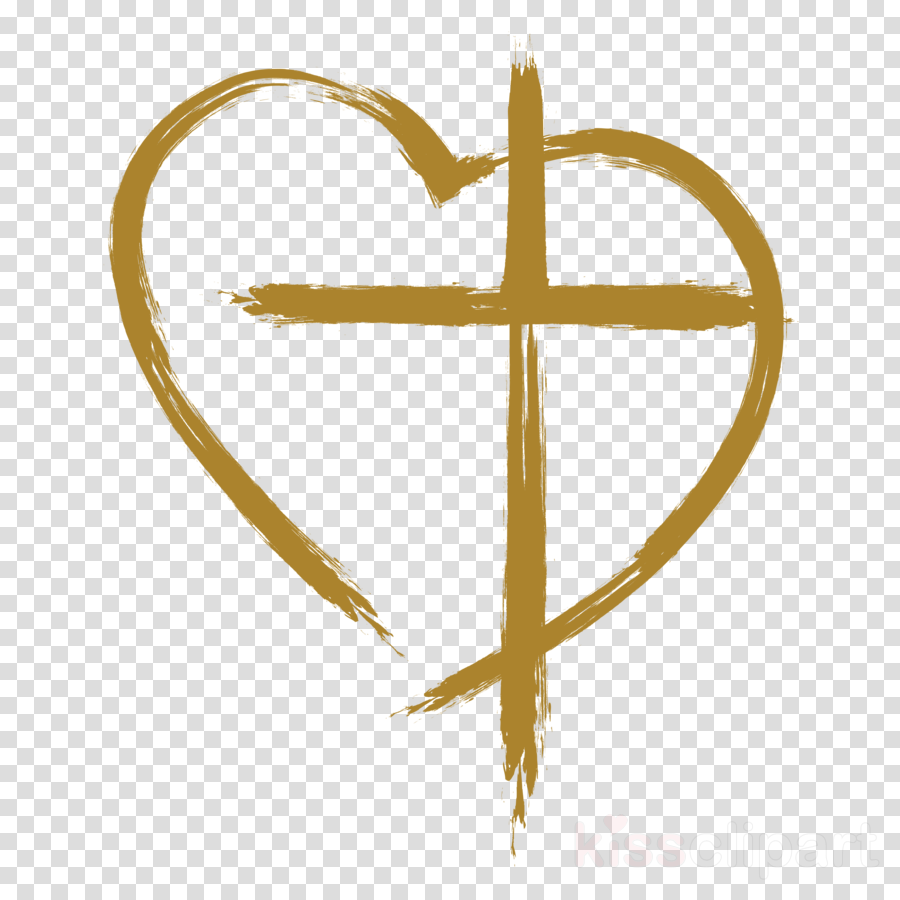 symbol heart cross clipart.