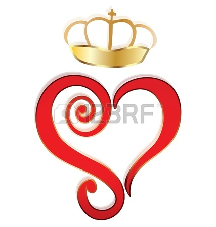 Heart And Crown Logo Royalty Free Cliparts, Vectors, And Stock.