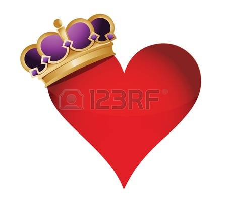 5,187 Heart With Crown Stock Vector Illustration And Royalty Free.