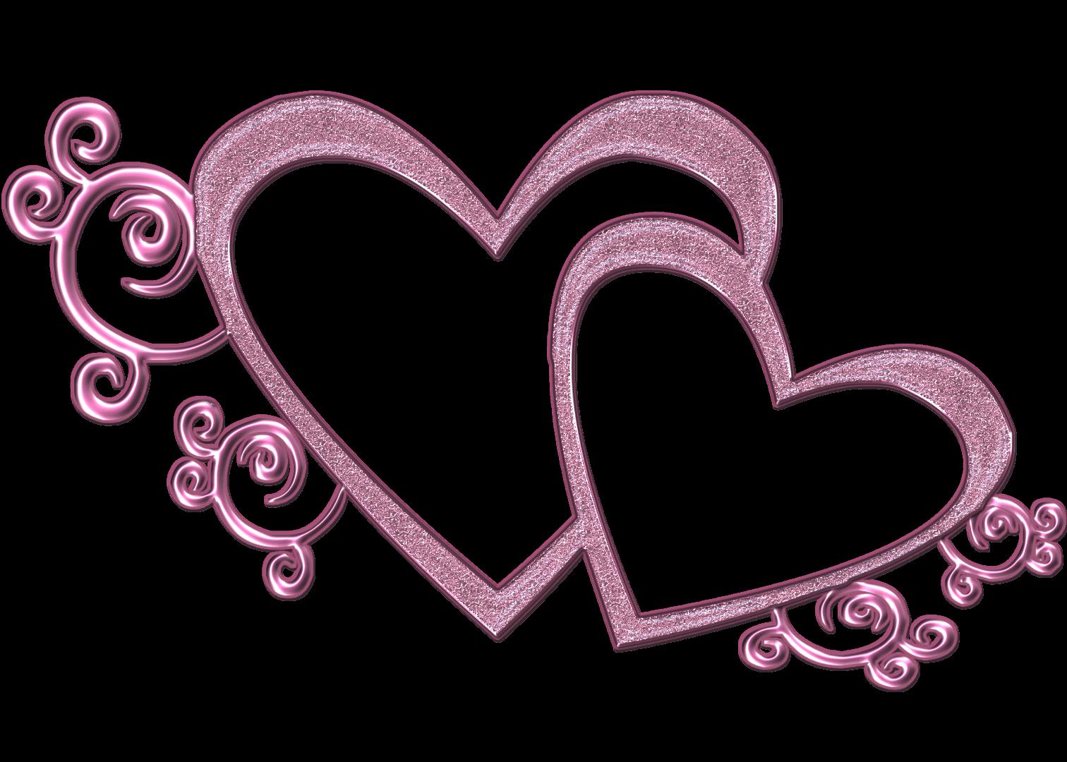 Wedding heart design clipart.