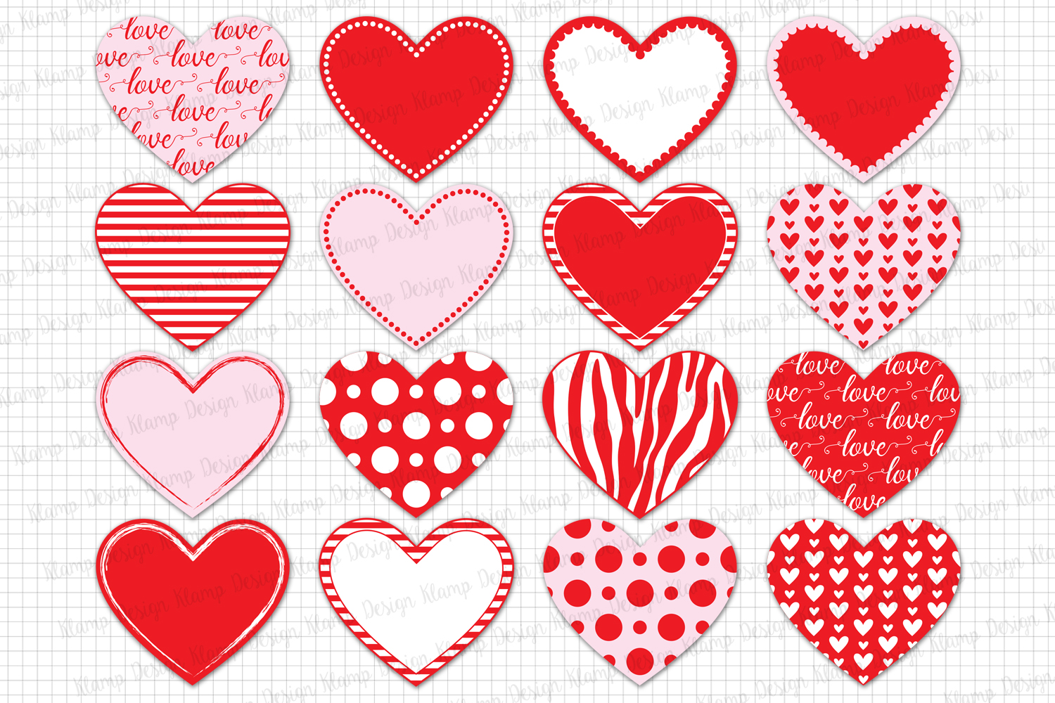 Heart Love Heart Clipart Valentine Heart Clip Art Valentines Day Heart  Graphic and Illustrations.
