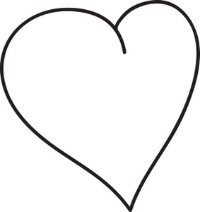 Simple heart drawing.