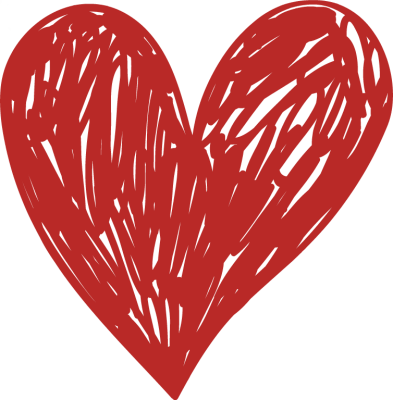 Drawn Red Heart Clipart.