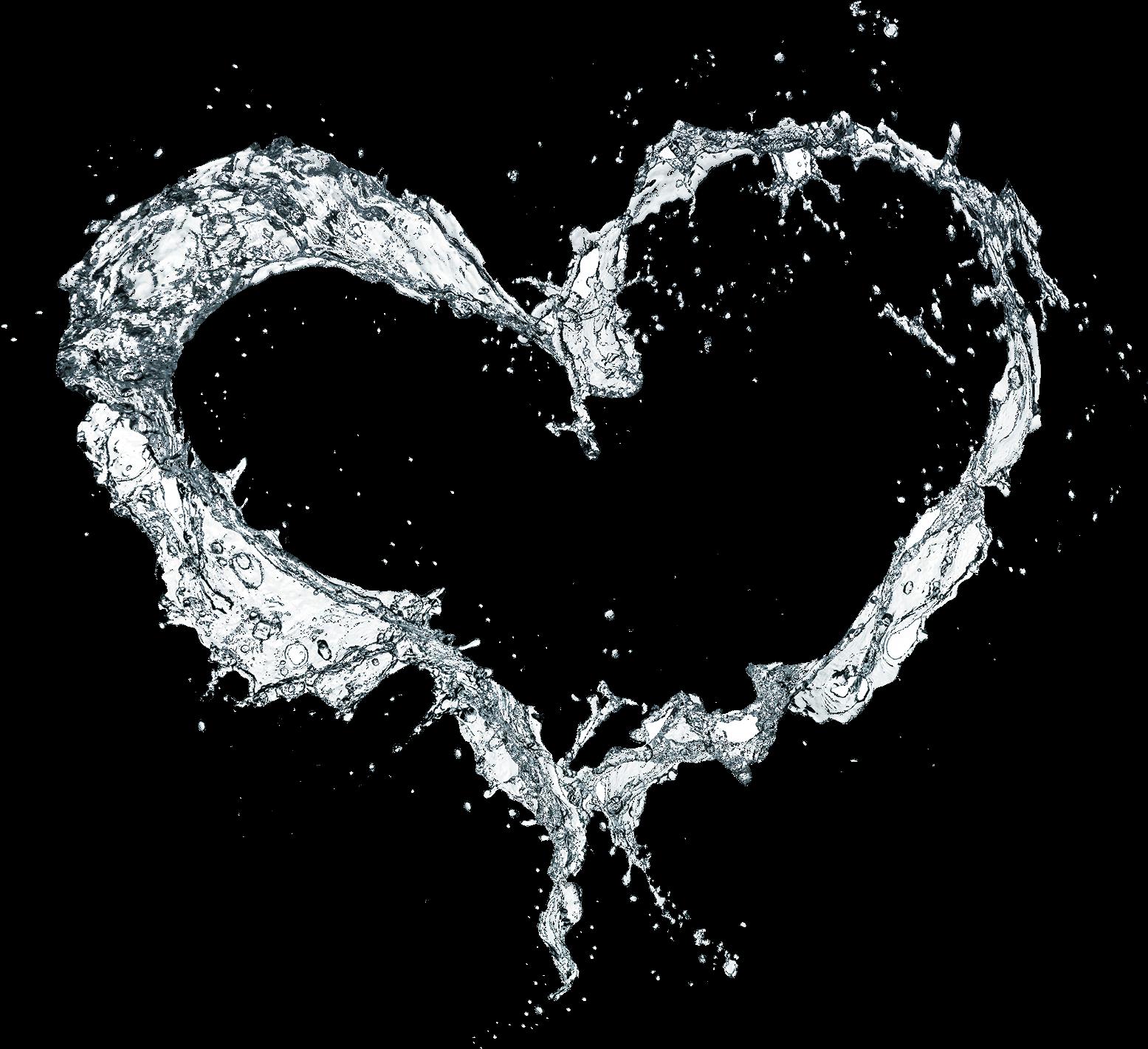 Water Splash Heart Hearts Effects Effect Frame Heart.