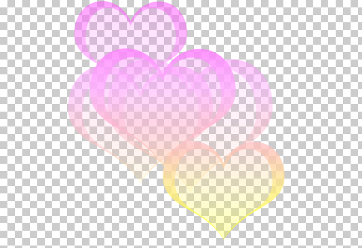 Heart Pastel Bokeh Color , effect, five pink and yellow.