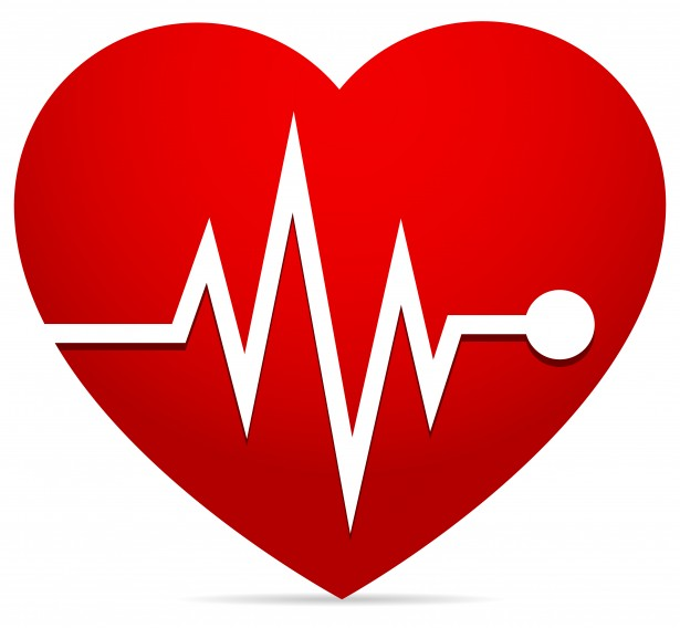 Heart With EKG Clip Art N6 free image.
