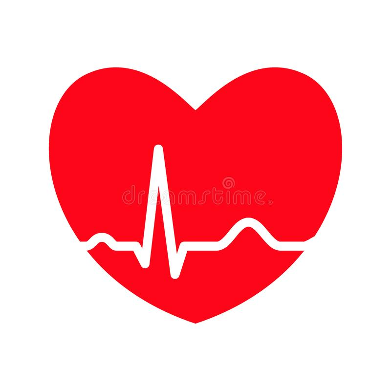 Heart Ekg Stock Illustrations.