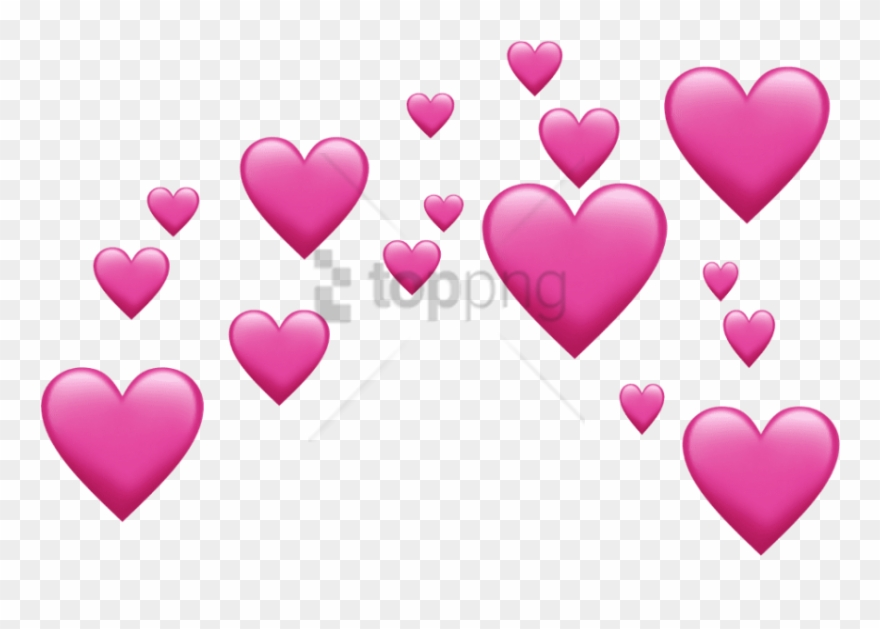 Free Png Pink Emoji Hearts Png Image With Transparent.