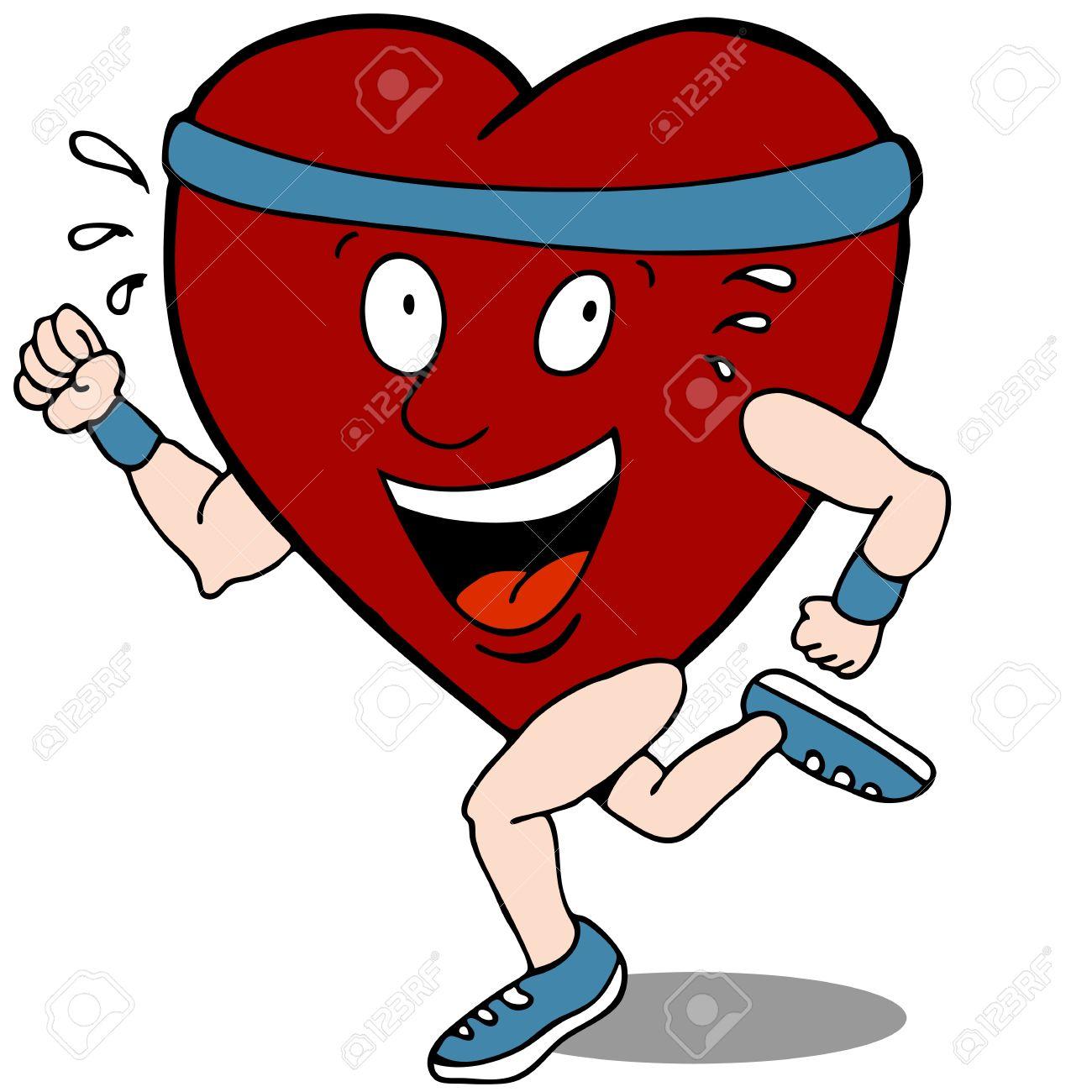 Exercising Heart Clipart.
