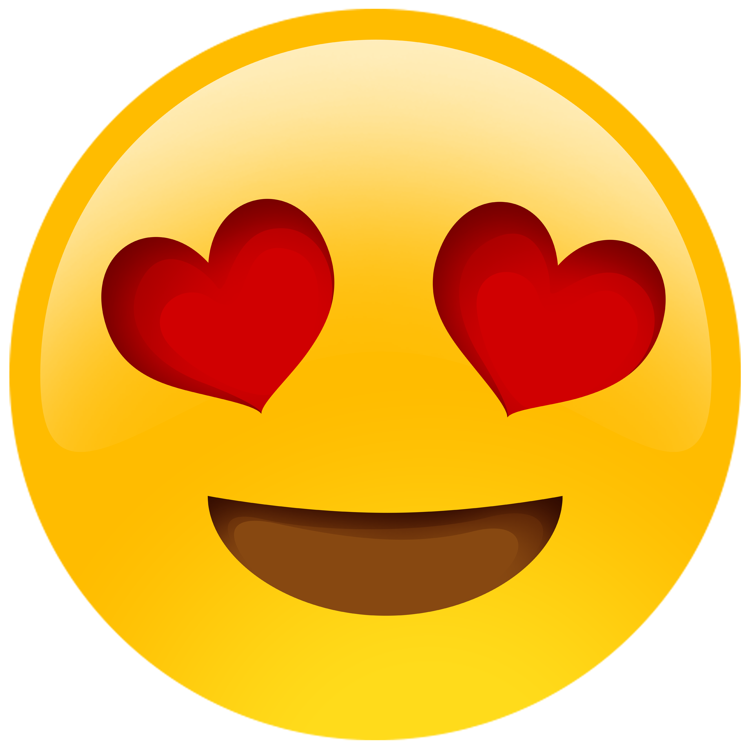 20 Heart eye emoji clipart for free download on Premium art.