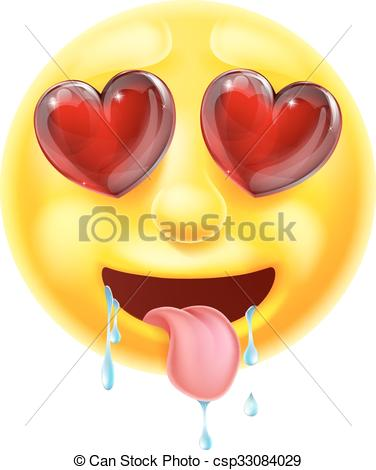 Vector Illustration of Emoji with heart.
