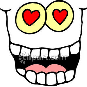 Eyes with hearts clipart.