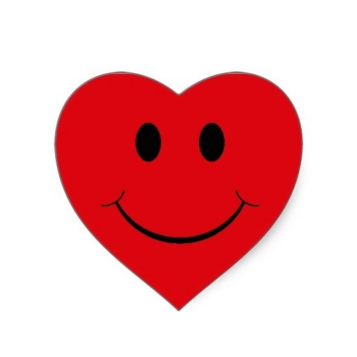 Clipart Heart With Face.